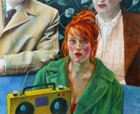 Xenia Hausner Before Life (SOLD), 2015, oil on paper on hardboard, 51 x 63 inches