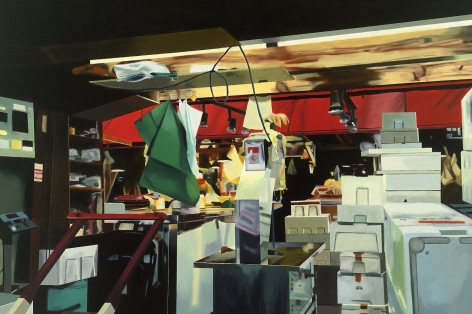 megan rye, Tsukiji Fish Market 5, 2005, oil on canvas, 32 x 48 inches