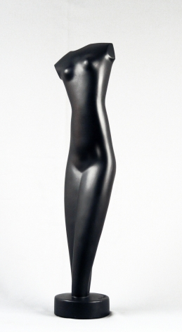 Alexander Archipenko, Torso (SOLD), 1948, black glazed terracotta, 24 inches high