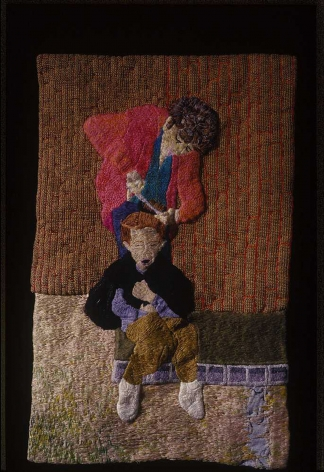 Darrel Morris, Homemade Hair Cut, 2007, embroidery and applique, 14 1/2 x 9 inches