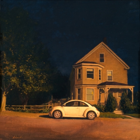 Linden Frederick, Bug (SOLD), 2008, oil on panel, 12 1/4 x 12 1/4 inches