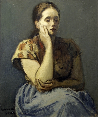Raphael Soyer, Marion (SOLD), 1938, oil on canvas, 24 x 20 inches