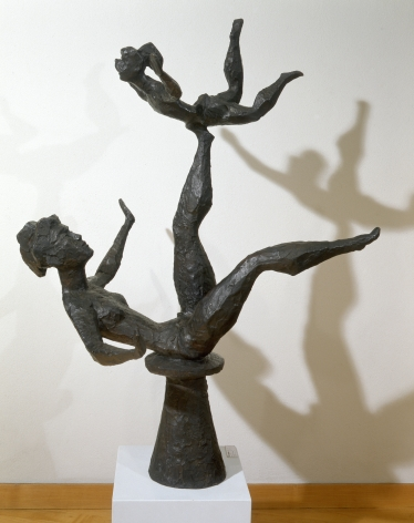 Chaim Gross, Balancing Baby, 1968, bronze, 44 x 34 x 26 inches, Edition of 6
