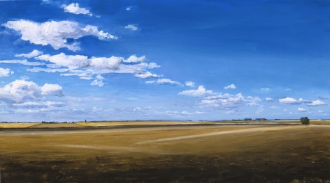 William Beckman, Small Last Plowing, 2006, oil on panel, 10 1/8 x 18 1/8 inches