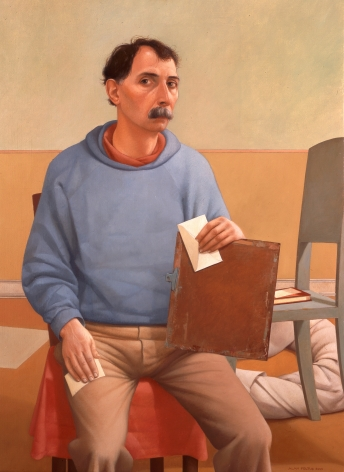 Alan Feltus, Self-Portrait, Fall of 2001, oil on linen, 43 1/8 x 31 1/2 inches