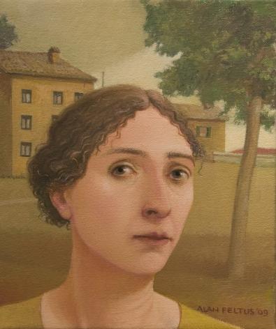 alan feltus, Teresa, 2009, oil on canvas, 12 x 10 inches