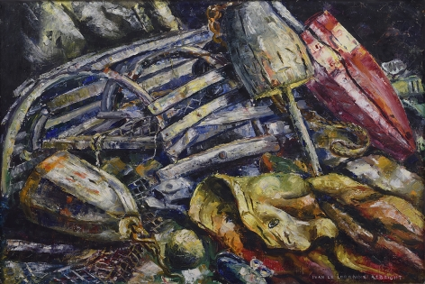 Ivan Le Lorraine Albright, Lobsterman's Catch, 1940, oil on canvas, 20 x 30 inches