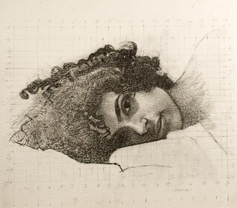 Bernardo Siciliano, Samira (SOLD), 2009, graphite on paper, 22 1/2 x 24 inches
