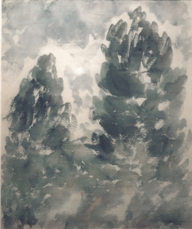 Abraham Walkowitz Two Trees, 1908 watercolor on paper 17 x 13 7/8 inches