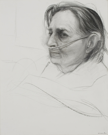 steven assael, Untitled (Mother #1), 2013, graphite and crayon on paper, 14 x 11 1/4 inches
