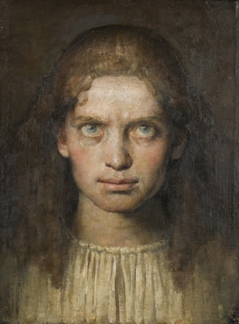 Odd Nerdrum, Portrait of a Young Girl, 1992 - 93, oil on linen, 15 x 11 inches