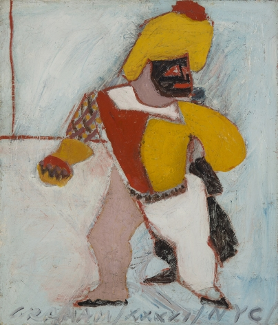 john graham, Harlequin, 1941, oil on canvas, 21 x 18 inches