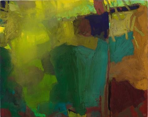 Brian Rutenberg, Horizons Crystal Air 5, 2011, oil on linen, 30 1/2 x 38 inches