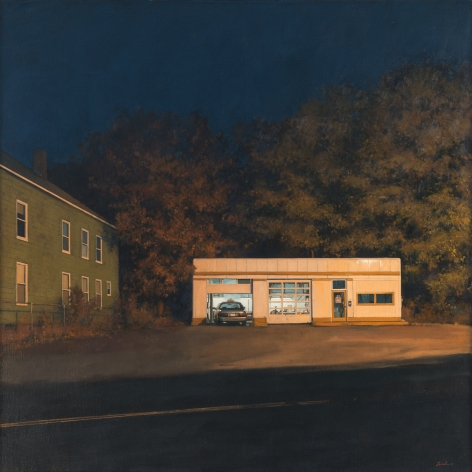 linden frederick, Taxi, 2016, oil on linen, 36 x 36 inches