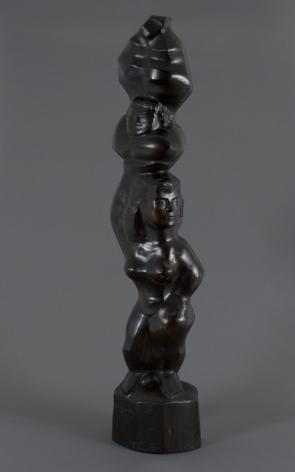 Chaim Gross, Acrobats Balancing, 1953, ebony, 40 1/2 x 9 x 5 1/2 inches