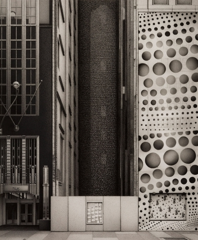 anthony mitri, Southern Exposure, 745 Fifth Avenue, Manhattan, 2015, charcoal on paper  18 1/4 x 15 inches