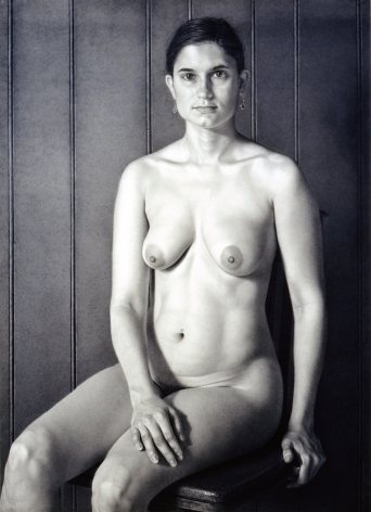 james valerio, Laila, 2001, pencil on paper, 40 x 28 3/4 inches