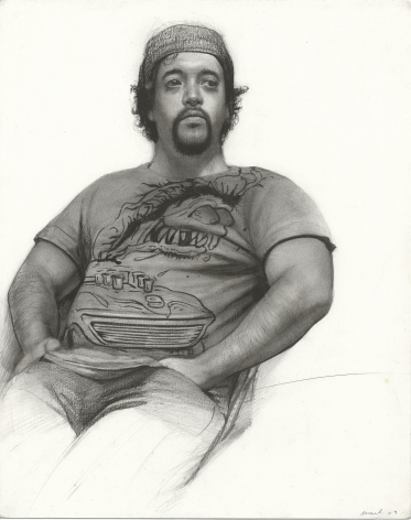 Steven Assael Sal, 2009, graphite and crayon on paper, 14 x 11 1/4 inches