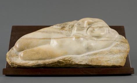 William Zorach, Odalisque, 1961, marble, 10 x 22 1/2 x 4 inches