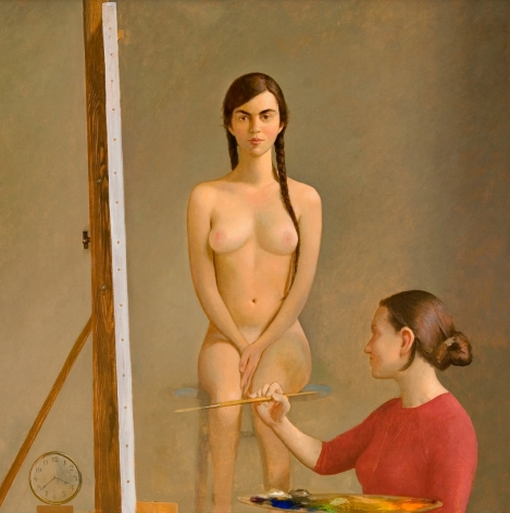 Bo Bartlett, Vashon Academy, 2008, oil on linen, 48 x 48 inches