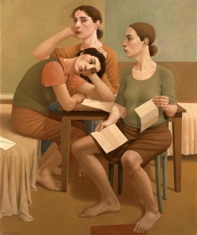Alan Feltus, Le Sorelle, 2005, oil on linen, 39 3/8 x 47 1/4 inches