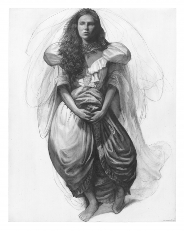 Steven Assael, Wedding Study, 2013, graphite and crayon on paper, 14 x 10 3/4 inches