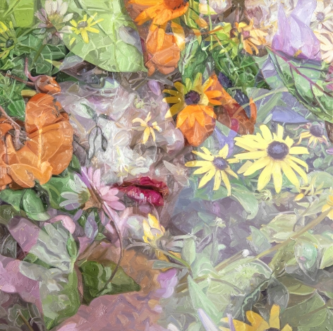 Alyssa Monks, Infinite, 2020, oil on linen, 40 x 40 inches