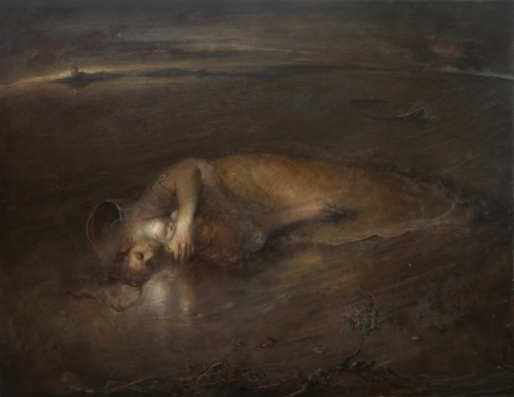 odd nerdrum, Stranded, oil on canvas, 59 1/4 x 76 1/4 inches