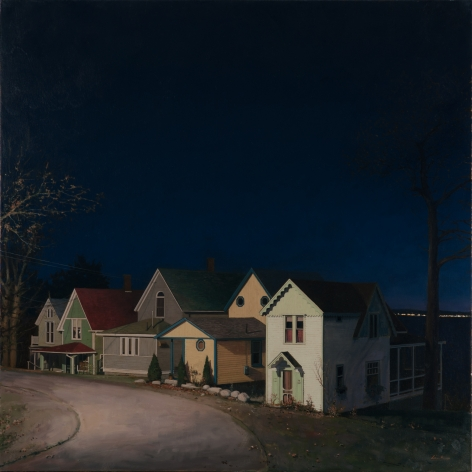 Linden Frederick, Sea Street, 2010, oil on linen, 40 x 40 inches