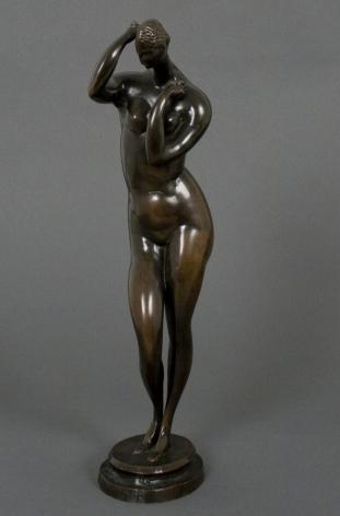 elie nadelman, Standing Female Nude (SOLD), c. 1909-1915, bronze, 15 x 5 1/4 x 4 inches