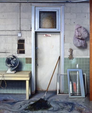 james valerio, Studio Exit, 2003, oil on canvas, 84 x 96 inches