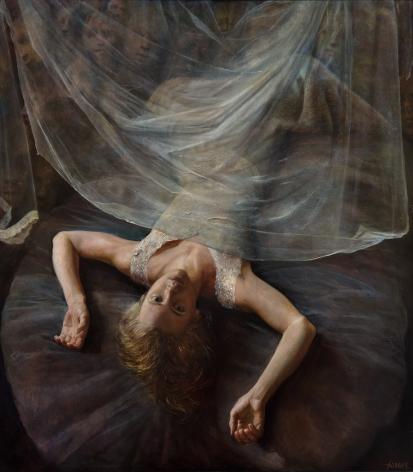 Steven Assael, Fallen Bride, 1992 - 2015, oil on board, 52 1/2 x 47 inches