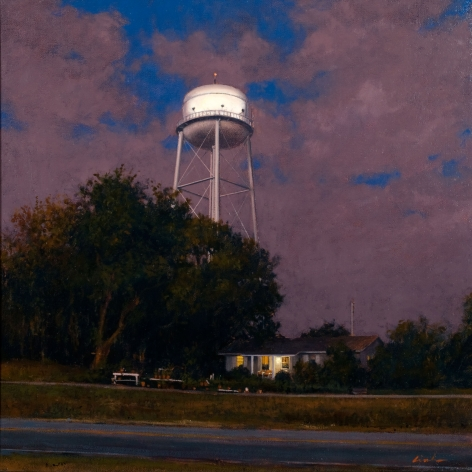 Linden Frederick, Spanish Moss (SOLD), 2007, oil on panel, 12 1/4 x 12 1/4 inches