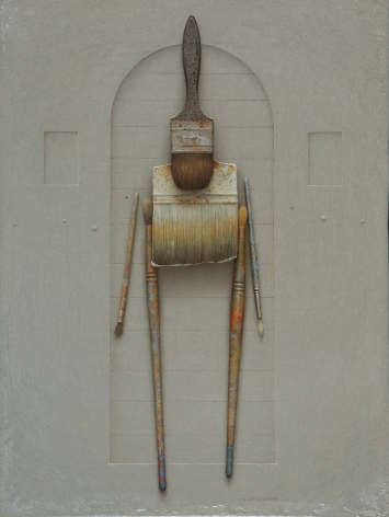 alan magee, Cicerone, 2010, acrylic and oil on panel, 24 x 18 inches