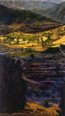 Peter Krausz, (No) Man's Land No. 1, 2008, tempera and oil on canvas, 84 x 48 inches