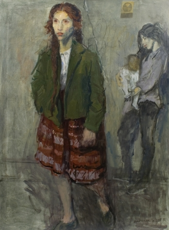 Raphael Soyer, Diane Di Prima Walking, 1965, oil on canvas, 38 x 28 inches