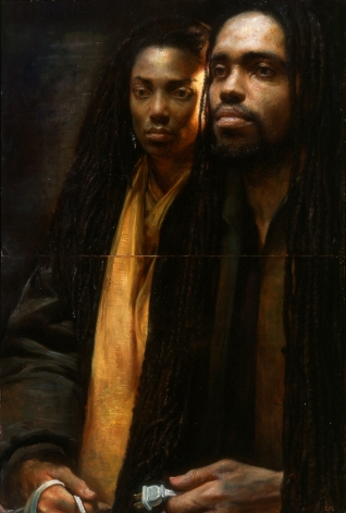 Steven Assael James & Nicole, 2005, oil on panel, 35 1/2 x 24 inches