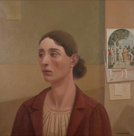alan feltus, Giovanna Battista, 2013, oil on linen, 19 3/4 x 19 3/4 inches