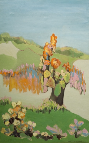 Benny Andrews, Piece of Landscape, 1967, oil on canvas, 29 x 18 inches