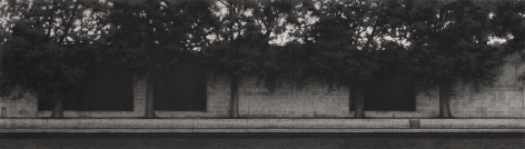 Anthony Mitri, Entre Chien et Loup 2 (Twilight), Paris, 2008, charcoal on paper, 11 x 37 3/4 inches (image)