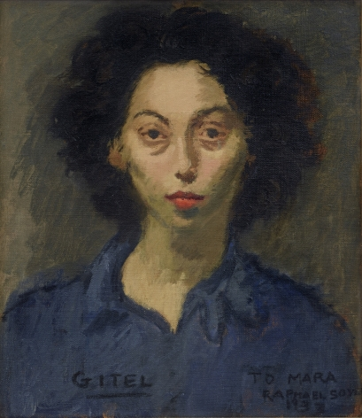 Raphael Soyer, Gitel, 1933, oil on canvas, 16 x 14 inches