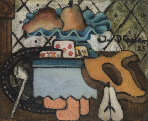 john graham, Still Life with Saw, 1925, oil on canvas, 14 1/8 x 17 inches