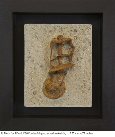 Alan Magee, To Posterity: Wheel, 2010, mixed media, 5.75 x 4.75 inches