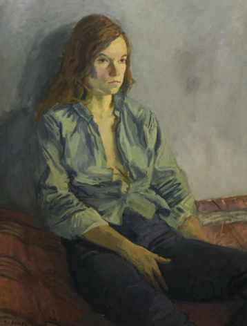 Raphael Soyer, Young Woman, 1972, oil on canvas, 34 x 26 inches