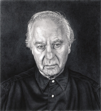 james valerio, Self-Portrait, 2012, charcoal on paper, 22 x 24 inches (image), 27 x 29 inches (paper)