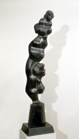 Chaim Gross, Young Tumbler, 1958, ebony, 47 1/2 H x 9 W x 5 1/2 D inches