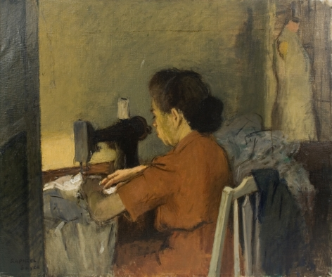 Raphael Soyer, The Seamstress, c.1947, oil on canvas, 25 x 30 inches
