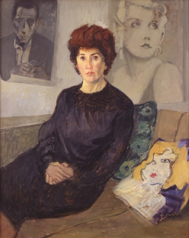 raphael soyer, Portrait of Maureen Stapleton, 1968, oil on canvas, 40 x 32 inches