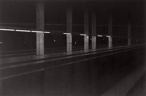 anthony mitri, 11:01 A.M., Penn Station, NY, NY, 2005, charcoal on paper, 12 1/4 x 18 3/8 inches