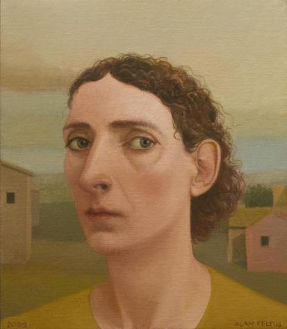 alan feltus, Talia, 2009, oil on canvas, 13 3/4 x 11 3/4 inches